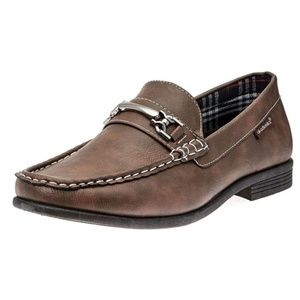Akademiks Men's Slip-On Loafer Shoes Brown